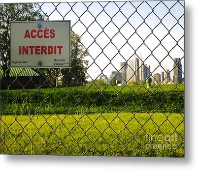 Acces Interdit Metal Print by Reb Frost