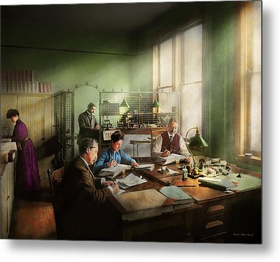 Metal Print featuring the photograph Accountant - The- Bookkeeping Dept 1902 by Mike Savad