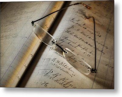 Accounting And Bookkeeping Metal Print