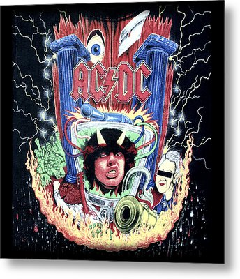 Metal Print featuring the digital art Acdc by Gina Dsgn