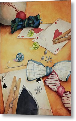 Aces And Jacks Metal Print by Lorraine Ulen