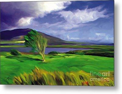 Achill Island Ireland  Sunny Metal Print by Bob Salo