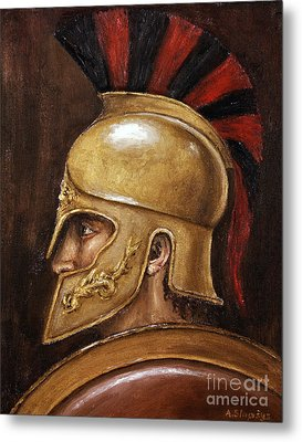 Metal Print featuring the painting Achilles by Arturas Slapsys