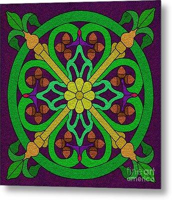Acorn On Dark Purple 2 Metal Print by Curtis Koontz