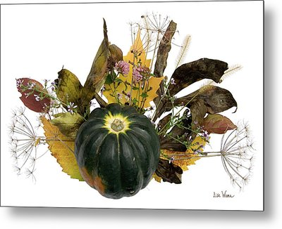 Acorn Squash Bouquet Metal Print by Lise Winne