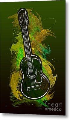 Acoustic Craze Metal Print by Bedros Awak