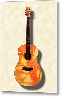 Acoustic Guitar - Musical Instruments Metal Print