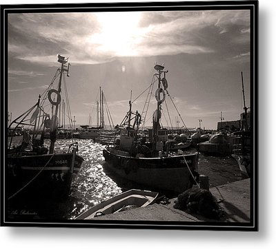 Acre  Fishing Port Metal Print
