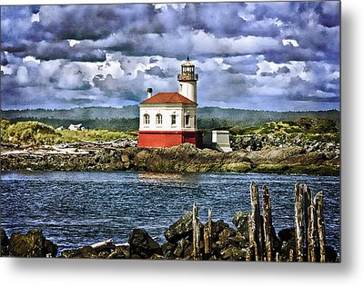 Across From The Coquille River Lighthouse Metal Print by Thom Zehrfeld