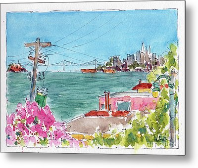 Across The Bay From Sausalito Metal Print by Pat Katz