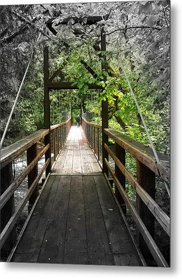 Across The Creek Metal Print by Carol Grimes