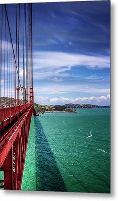 Across The Golden Gate Bridge San Francisco Metal Print