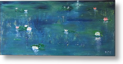 Across The Lily Pond Metal Print by Gary Smith