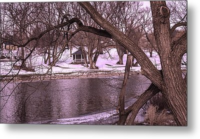 Across The River Metal Print by Anne Witmer