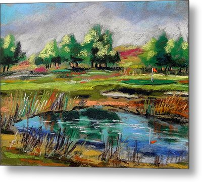 Metal Print featuring the painting Across The Water Hazard by John Williams