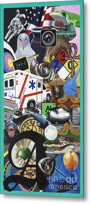 Acrylic Painting Letter A Metal Print by Scott Duffy