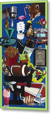 Acrylic Painting Letter F Metal Print by Scott Duffy