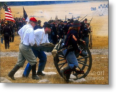 Action At The Front Metal Print by David Lee Thompson