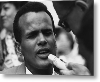 Actor And Singer Harry Belafonte Metal Print by Everett