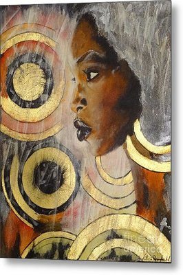 Adaeze The King's Daughter Metal Print by Victoria Rosenfield