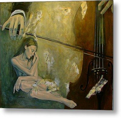Adagio  Sentimental Confusion Metal Print by Dorina  Costras