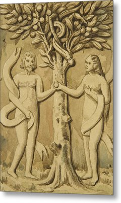 Adam And Eve Metal Print by Joseph Manning