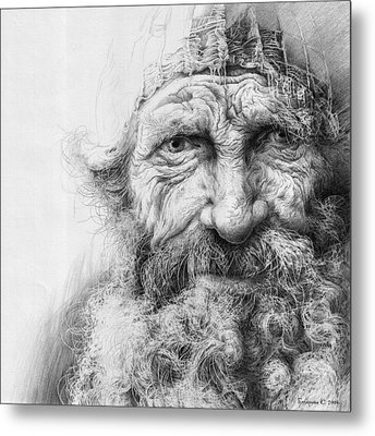Adam. Series Forefathers Metal Print by Sergey Gusarin