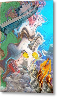Addiction Metal Print