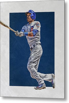 Addison Russell Chicago Cubs Art Metal Print by Joe Hamilton