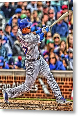 Addison Russell Chicago Cubs Metal Print