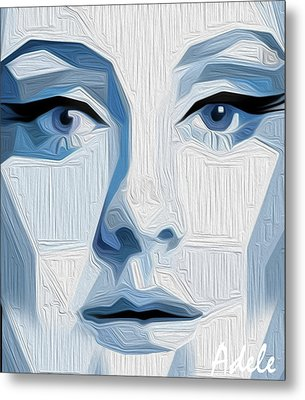 Adele By Nixo Metal Print