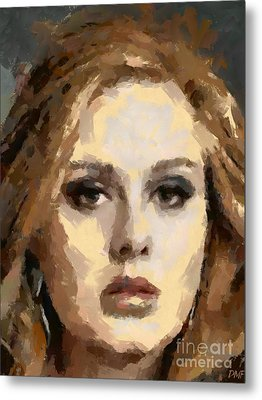 Adele Metal Print by Dragica Micki Fortuna