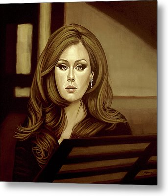 Adele Gold Metal Print by Paul Meijering