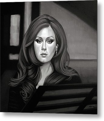 Adele Mixed Media Metal Print by Paul Meijering