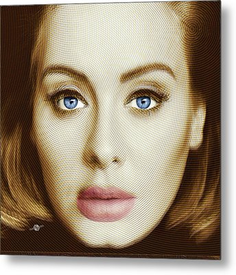 Adele Painting Circle Pattern 2 Metal Print
