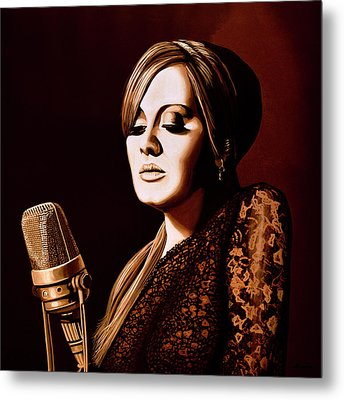 Adele Skyfall Gold Metal Print by Paul Meijering