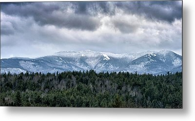 Metal Print featuring the photograph Adirondack High Peaks During Winter - New York by Brendan Reals