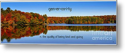 Metal Print featuring the photograph Adirondack October Generosity by Diane E Berry
