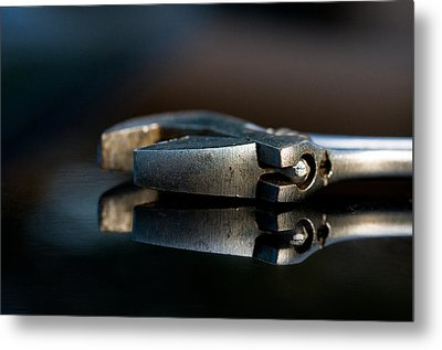 Adjustable Wrench Metal Print by Wilma  Birdwell