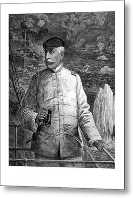 Admiral Dewey At Sea Metal Print by War Is Hell Store
