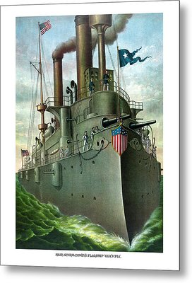 Admiral Dewey's Flagship Olympia  Metal Print