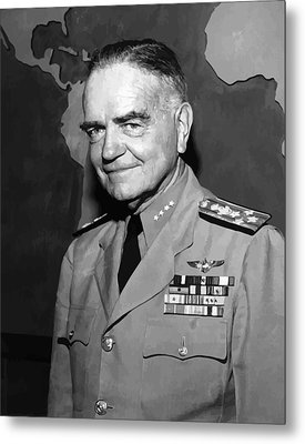 Admiral William Bull Halsey Metal Print by War Is Hell Store