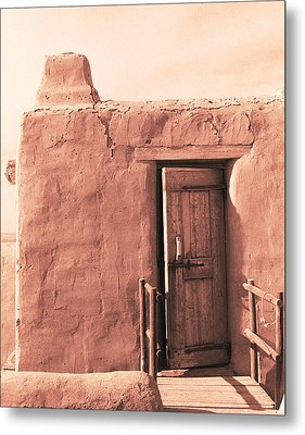 Adobe Doorway Metal Print by Eric Foltz