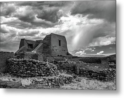 Metal Print featuring the photograph Adobe, Stones, And Rain by James Barber
