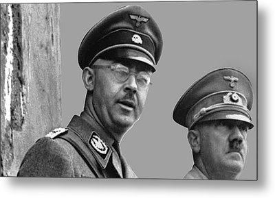 Adolf Hitler And Gestapo Head Heinrich Himmler Watching Parade Of Nazi Stormtroopers 1940-2015 Metal Print by David Lee Guss