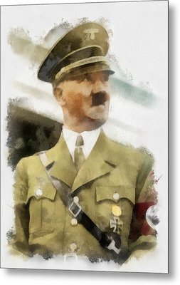 Adolf Hitler Wwii Metal Print by Esoterica Art Agency