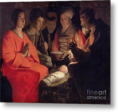 Adoration Of The Shepherds Metal Print by Georges de la Tour