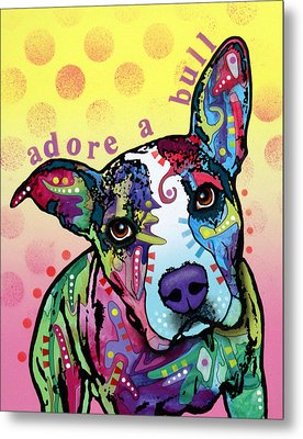 Metal Print featuring the painting Adoreabull by Dean Russo