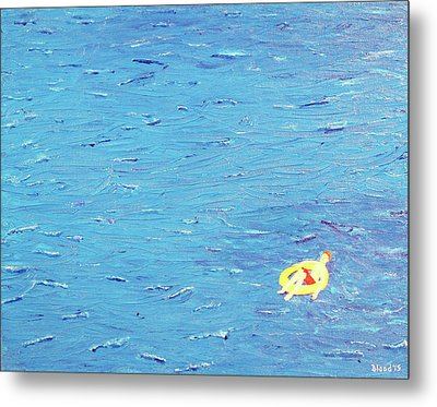 Metal Print featuring the painting Adrift by Thomas Blood
