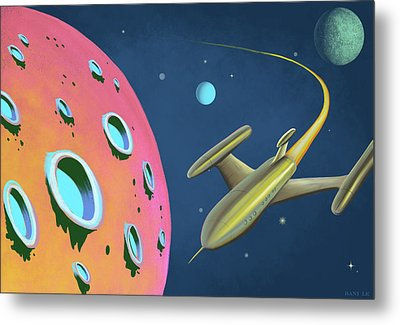 Adventures In Space Metal Print by Little Bunny Sunshine